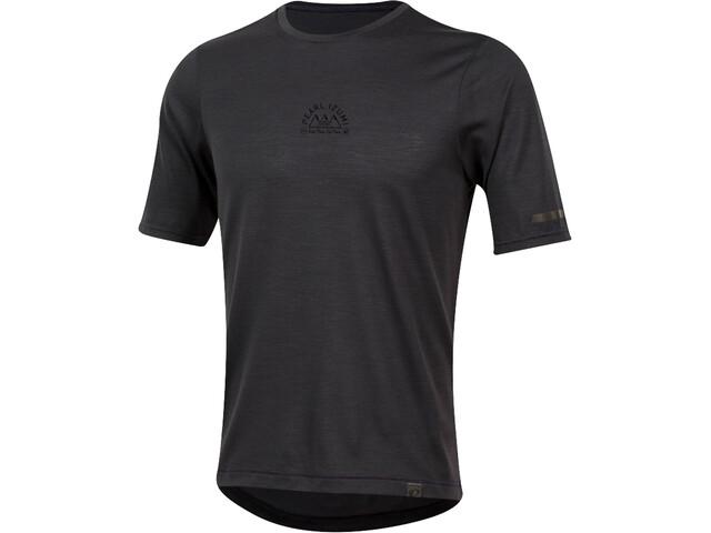 PEARL iZUMi BLVD Merino T-shirt Homme, phantom/black crest